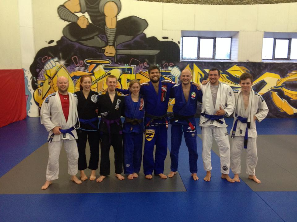 Some of the Kyuzo crew after a hard training session with Robert Drysdale